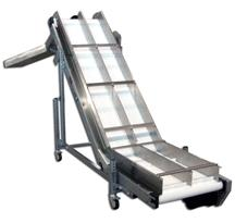 cleated belt conveyor with divider
