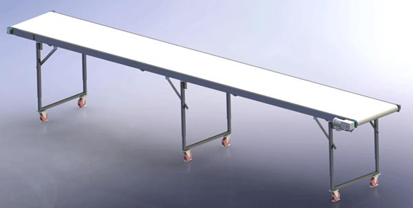 Heavy Duty Conveyor Rendering