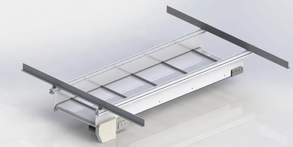 Low Profile Aluminum Conveyor Rendering