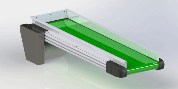 Small Frame Aluminum Conveyor Rendering
